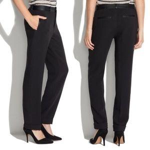 Madewell Black Tapered Tuxedo Trouser Pants
